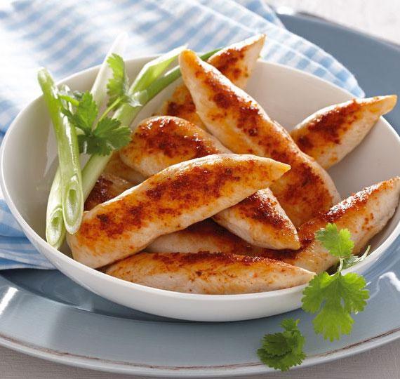 Tiras de pollo almendrado 1 - Tiras de pollo almendrado